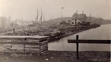 Photo: 1914 Odense Havn ved det nye bassin.