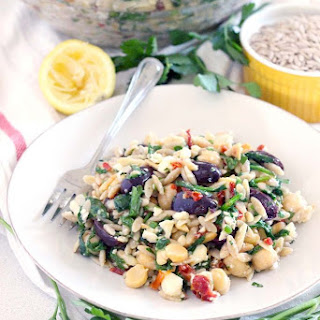 Mediterranean Chickpea and Orzo Salad.