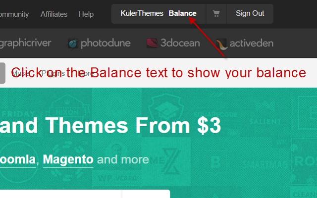 Envato Balance Toggle