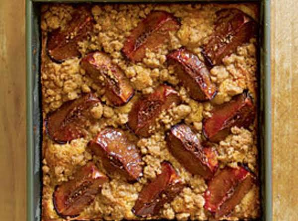 Plum Coffee Cake With Brown Sugar & Cardamom Streusel Recipe