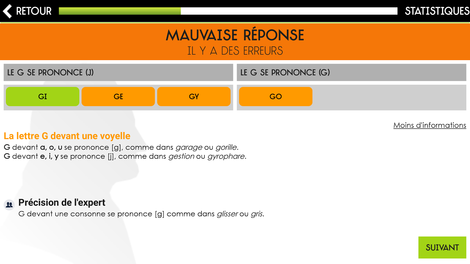 Orthographe Projet Voltaire- screenshot