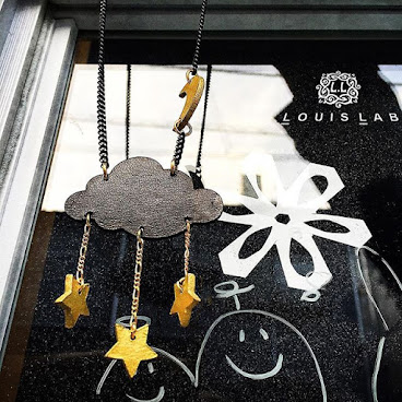 Moon Night Star Leather Necklace