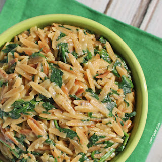 Spinach and Parmesan Orzo.