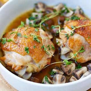 Chicken with Sauteed Mushroom.
