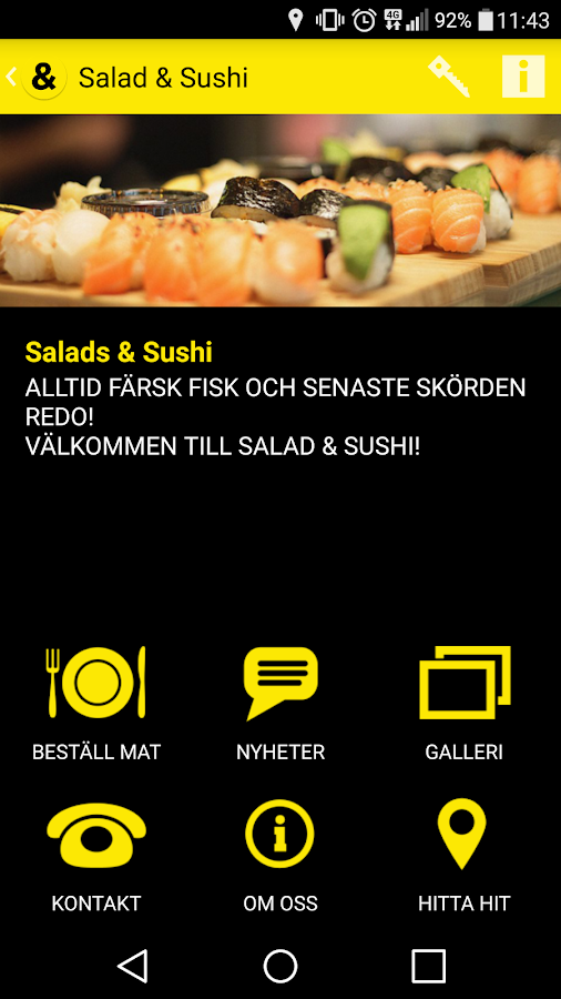 Salads & Sushi- screenshot