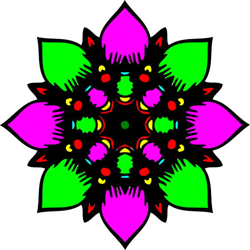 Coloring book: Mandala Flowers Icon