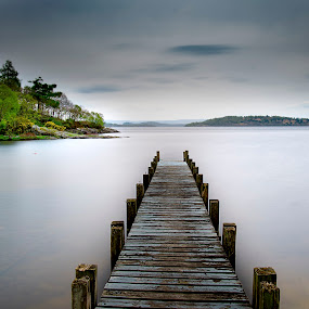 by Andrew Percival - Landscapes Waterscapes ( water, scotland, leading lines, pier, long exposure, loch, landscape )