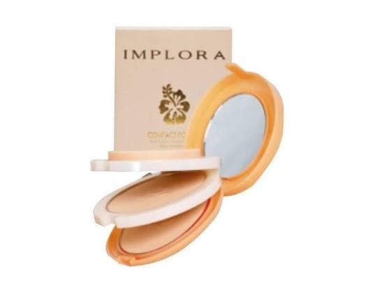 Bedak Implora Compact Powder 3 in 1 dengan 2 bedak 1 foundation hemat murah berkualitas elegan natural