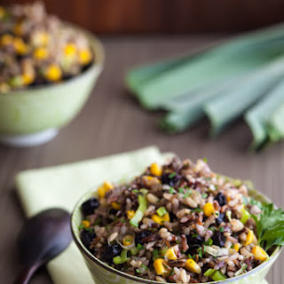 Rice Salad with Corn and Dried Blueberries.
