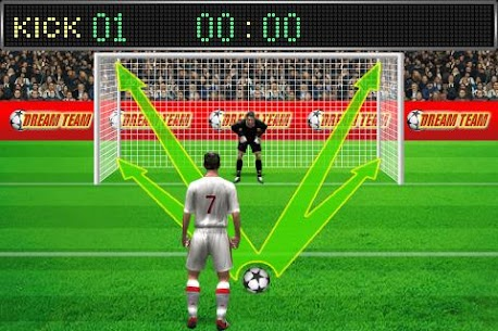 Football penalty. Shots on goal. 4