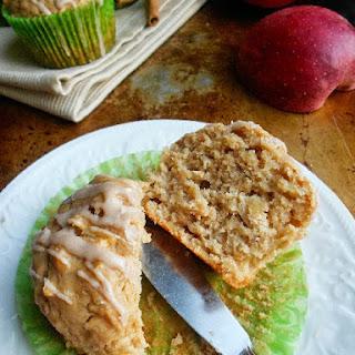Apple Peanut Butter Muffins with Cinnamon Glaze