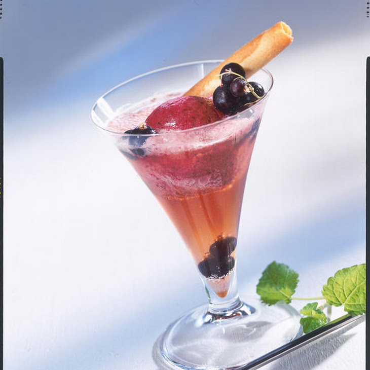 Kir Royale with Blackcurrant Sorbet Recipe