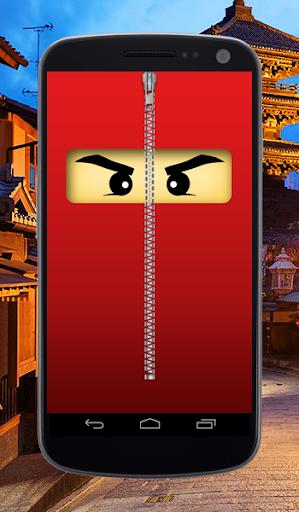Ninja Zipper Lock Screen