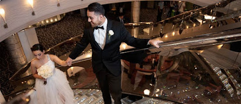 Be dazzled by Swarovski crystal staircases during an onboard ceremony.