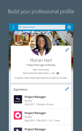Screenshot 6 for LinkedIn's Android app'