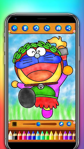 Doraemon Coloring Book For Kids And Toddlers