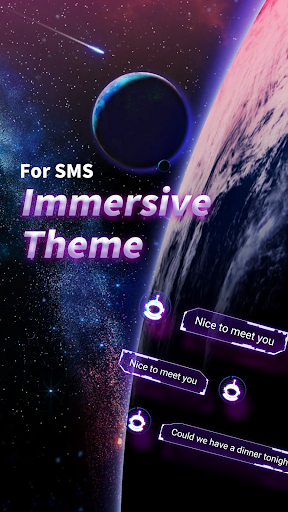 Galaxy SMS Messenger 2019 - SMS Lock&Free Stickers screenshot 2