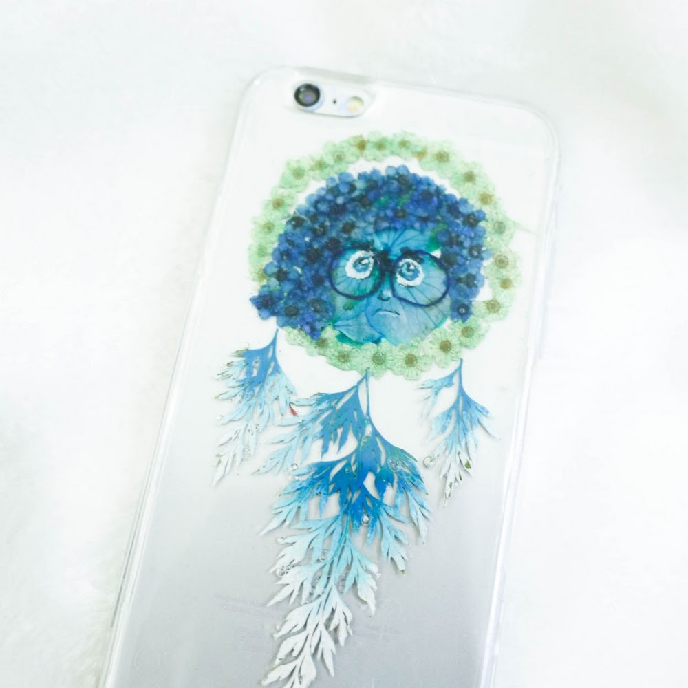 [訂製/custom-made] 阿愁押花手機殼 Sadness Pressed Flower Phone Case