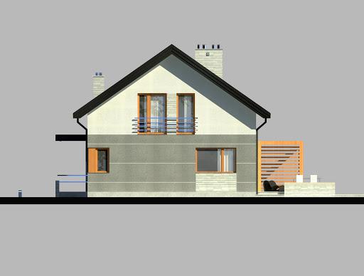LIM House 04 - Elewacja prawa