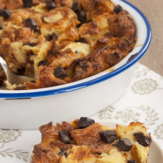Chocolate Croissant Bread Pudding