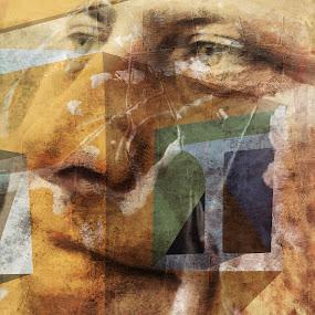 3.141592653589793 by Brut Carniollus - Illustration People ( non-conceptual, digital collage, portrait,  )
