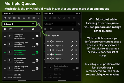 Musicolet Music Player [Free, No ads] screenshot 2