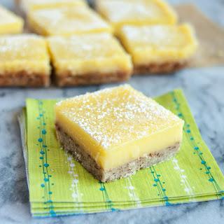 Heavenly Lemon Bars with Almond Shortbread Crust.