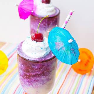 Blueberry Miami Vice Cocktail.