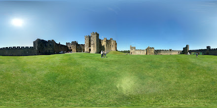 Photo: Photosphere captured using a Samsung Galaxy S3, at Alnwick Castle in Northumberland, UK. The same photo as the one I have posted to Google Maps, except, it is centred on the castle.