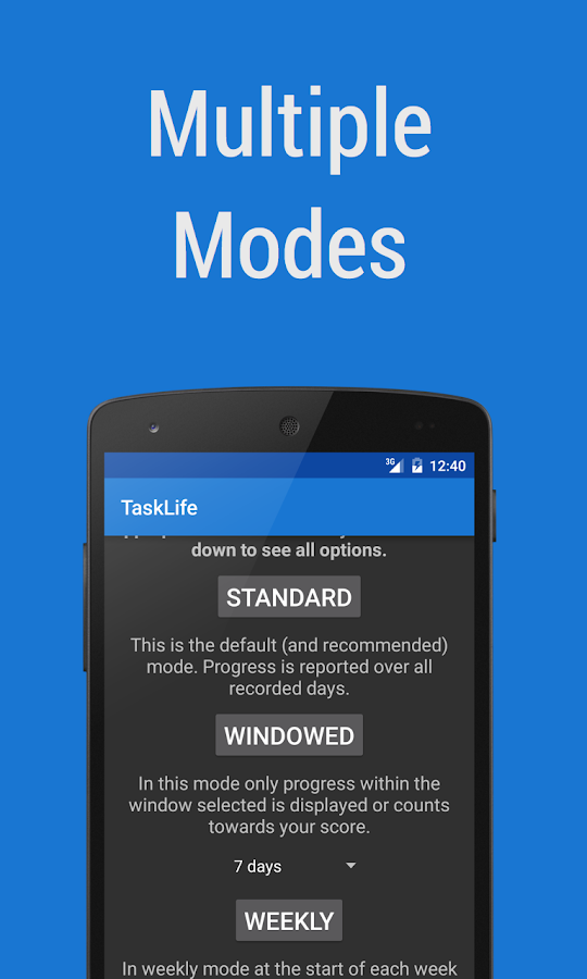 TaskLife Performance Tracker- screenshot
