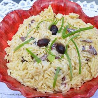 Black Olive Orzo Salad.