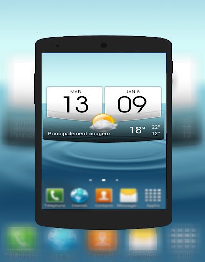 Weather Widget Digital Clock