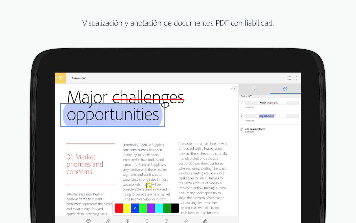 Adobe Acrobat Reader: captura de pantalla