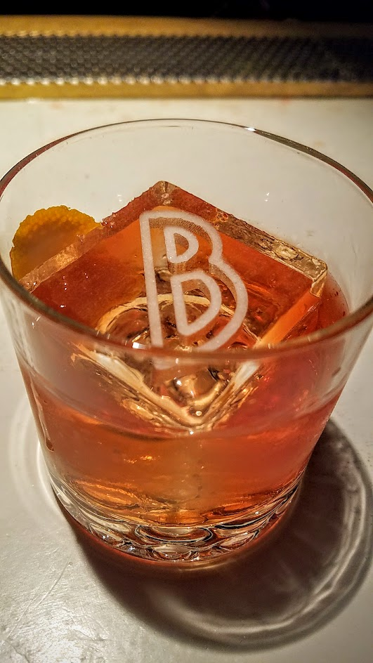 Barlow PDX cocktail for October 2016 of Ernest, Old Pal a Beachcomber's Negroni with secretly blended spiced grapefruit with Hamilton Overproof Dark Rum or Lemon Hart 151 is a nod to Donn Beach (Ernest) the founding father of Tiki.
