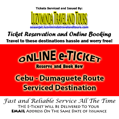 OceanJet Cebu-Tagbilaran-Dumaguete Route Ticket Reservation and Online Booking