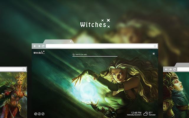 Witches HD Wallpaper Theme