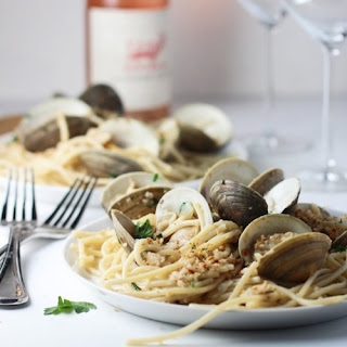Spaghetti and Clams With Brown Butter and Garlic Breadcrumbs.
