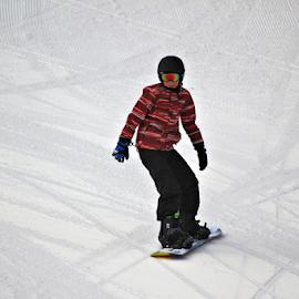 Snowboarder #2 by Tony Huffaker - Sports & Fitness Snow Sports ( mountain, snow, snowboarder, human, sport )