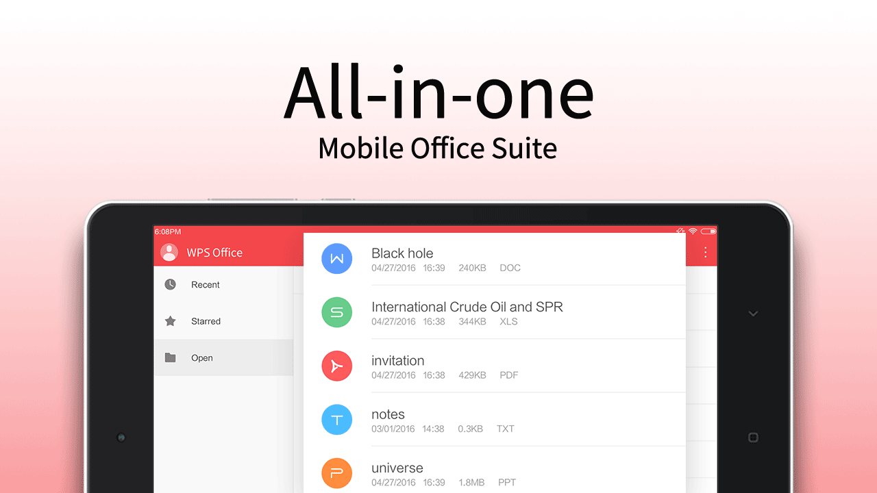 Screenshots of WPS Office - Word, Docs, PDF, Note, Slide & Sheet for iPhone