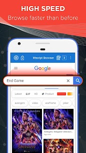 Wecript Incognito Browser App Download For Android and iPhone 8