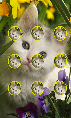 android Cute Cat Pattern Lock Screenshot 1