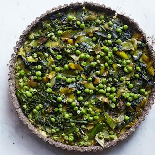 Green Vegetable Tart With Buckwheat Sunflower Crust