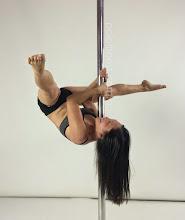 Photo: Cynthia Lau -  Double Monkey Flip with V Leg Line - Vertical Pole Gymnastics @ Pole Fitness Studios