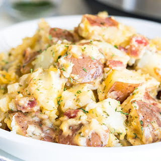 Instant Pot Cheesy Bacon Ranch Potatoes.