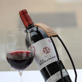 Red Wine by Harry Musadi - Food & Drink Alcohol & Drinks ( wine, chile, red wine, glass, bottle )