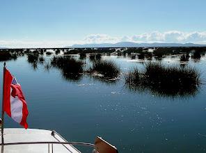 Photo: zu den schwimmenden Inseln von Uros