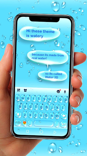 Blue 3d Waterdrops Keyboard Theme Mod Apk Latest Version | mod-apk info