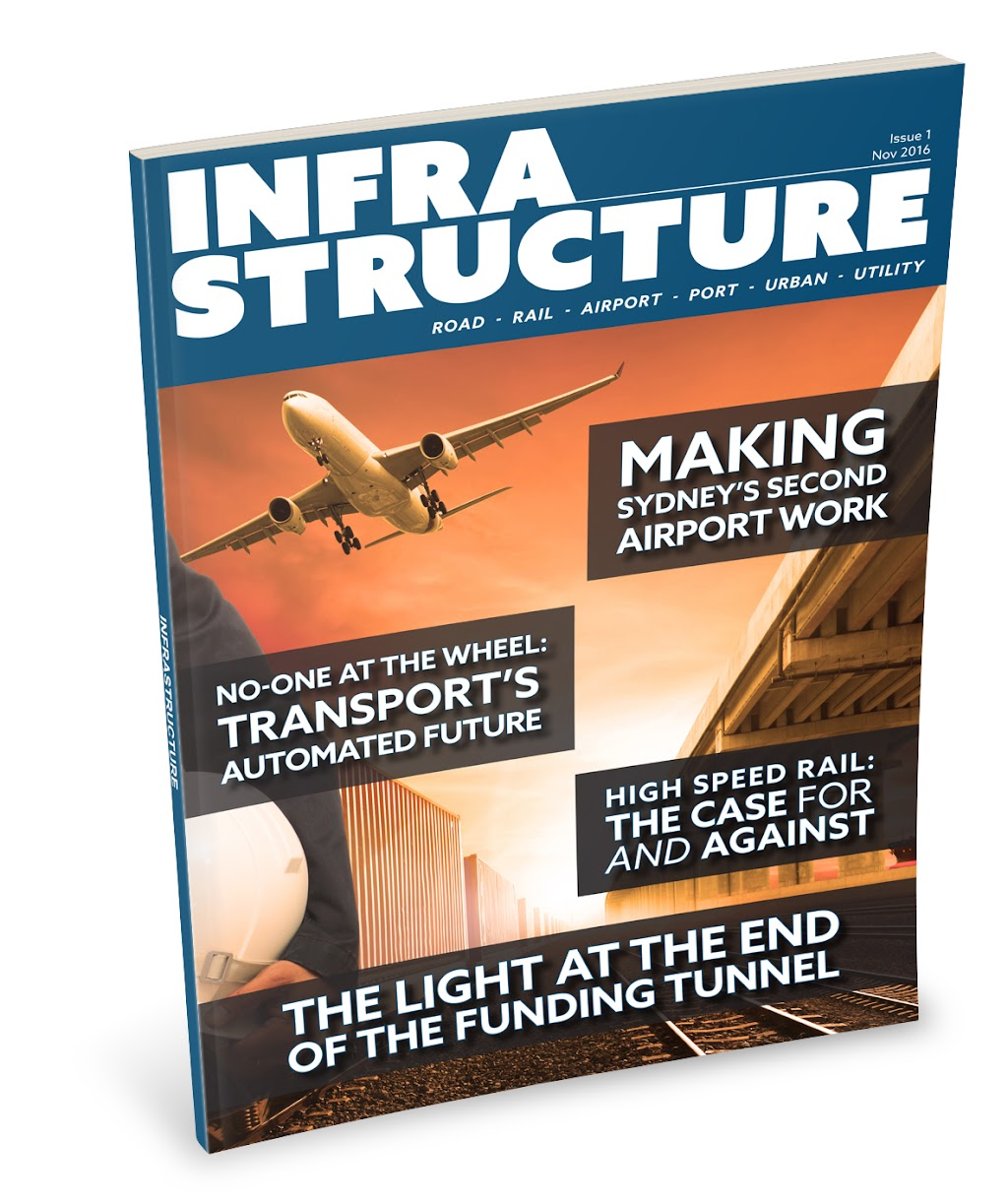 Physical copy of infrastructure magazine