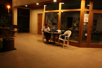 Photo: Day 20 - Using Wifi at Camp, Late at Night!