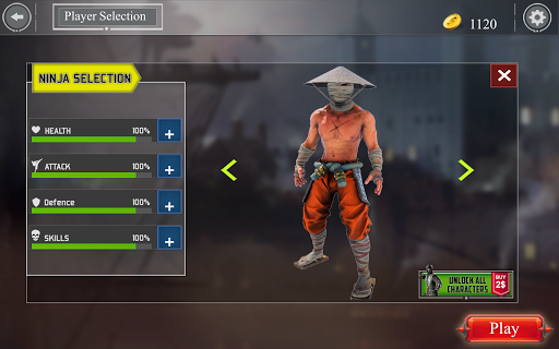 Super Ninja Kungfu Knight Samurai Shadow Battle  screenshots 8